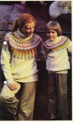 Grønlandsgenser Sun And Stars, Vintage Ski, Vintage Sweaters, Diva, Crochet Necklace, Wool, Knitting, Collection, Fashion