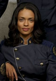 "Kandyse McClure as Officer Anastasia Dualla in ""Battlestar Gallactica (2004-9)"" http://www.imdb.com/name/nm0565973/"