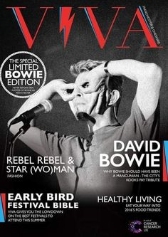 VIVA Spring 2016 The David Bowie Special Limited Edition (issue Mayor Tom, David Bowie Covers, David Bowie Starman, Aladdin Sane, Vinyl Cd, The Thin White Duke, Ziggy Stardust, Classic Rock, Favorite Person