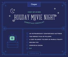 Holiday Movie Night essentials checklist!