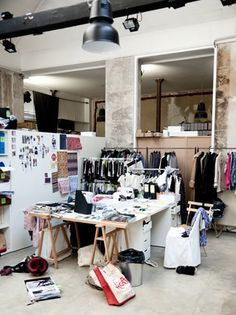 Fashion Design Studio - behind the scenes at Isabel Marant's studio; fashion designer's creative workspace