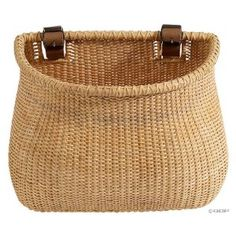 Nantucket Bike Basket CompanyLightship Collection Classic/Tapered Natural Bicycle Basket (Tan, 12 X X