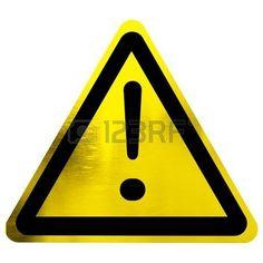Señal de peligro con signo de exclamación aislado en un fondo blanco sólido.