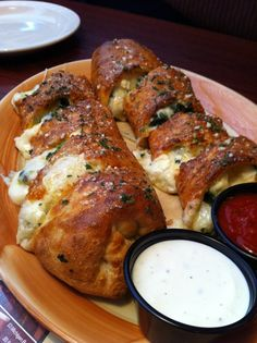 Spinach and Feta pizza roll