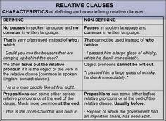 English teacher: Relative Clauses