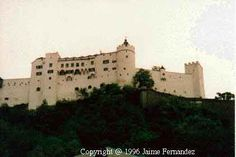 Austria has such beautiful castles. This is Hohensalzburg in Salzburg