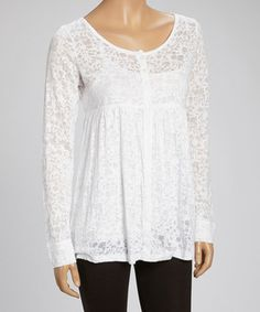 Love this Whitewash White Snappy Top by Whitewash on #zulily! #zulilyfinds