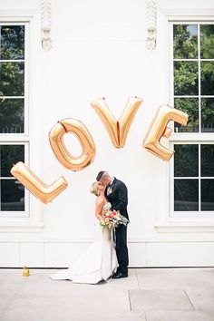 Love balloon arch #weddingideas @weddingchicks