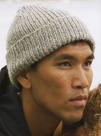 Knit a simple ribbed toque - Watch cap  This simple toque is about as basic as it gets, and a quick knitter can finish this toque in a day. Made in standard worsted-weight wool using a pattern stitch that's 1/1 rib stitch, it's very elastic and one size really should fit all. If the recipient has a particularly large head, add four or eight stitches.
