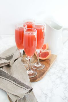 Ruby red grapefruit juice, homemade grenadine and simple syrup, plus a splash of Sprite create the tastiest Sparkling Grapefruit Cocktail.   Crumb Kitchen