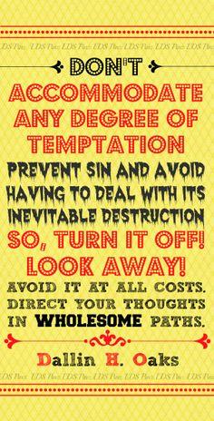 LDS Quote from  Dallin H. Oaks. #LDSquotes #ElderOaks #LDS  www.facebook.com/LDSPinz