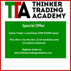 Thinker Trading Academy special offer