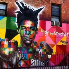 Jean-Michel Basquiat by Eduardo Kobra