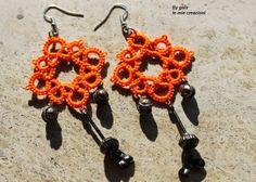 Le mie creazioni: Orecchini arancioni a chiacchierino