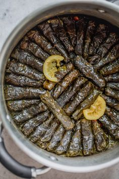 These Vegetarian Stuffed Grape Leaves are a Mediterranean classic recipe made with short grain rice, parsley, tomatoes and onions - my favorite appetizer! Armenian Recipes, Lebanese Recipes, Turkish Recipes, Grape Leaves Recipe, Stuffed Grape Leaves, Healthy Snacks, Healthy Recipes, Vegetarian Recipes, Egyptian Food