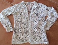 Vintage Collectable Size 10 - 12 Crochet Jumper Approx 25 Years Used Preloved