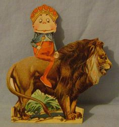 Vintage Brownie Lions Coffee Trade Card