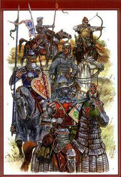 русское вооружение Medieval Knight, Medieval Armor, Medieval Fantasy, Military Art, Military History, Ancient History, Art History, Empire Romain, Landsknecht