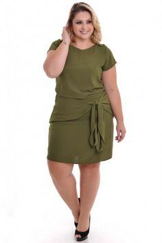 Vestido Plus Size Military Big Size Dress, Plus Size Dresses, Plus Size Outfits, Nice Dresses, Long Denim Dress, Demin Dress, Sleeves Designs For Dresses, Plus Size Casual, Long Tops