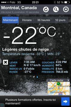 Il fait froid au Quebec