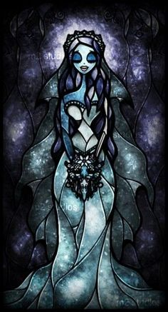 Corpse Bride stained glass