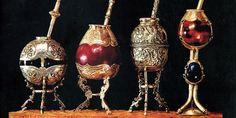 Mates de plata antigua.  Plateria criolla de Argentina.   -lbk-