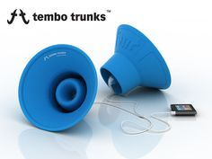 earbud speakers!!! Made from rubber and great for travel forty bucks