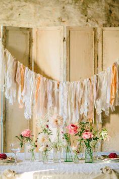 Fabric garland | Elyse Alexandria Photography | see more on: http://burnettsboards.com/2015/06/wedding-redo/