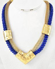 Water Warrior Princess Hammered Tribal Gold Statement Necklace-$38-Find hot fashion jewellery and statement jewlry at Strike Envy. #jewellery #jewlry