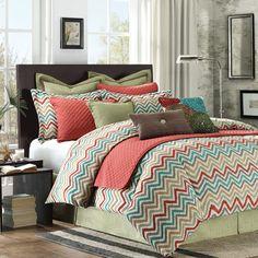 CHEVRON Bedding! OMG! @Olivia García Bruton