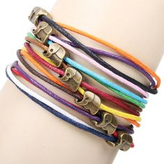 Cute Elephant Colorful Rope Bracelet for only $9.90 ,cheap Fashion Bracelets - I LOVE THIS!!