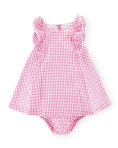 Gingham Cotton Dress & Bloomer - Baby Girl Dresses & Skirts - RalphLauren.com
