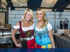 Need to know: 2015 Oktoberfest Zinzinnati. Photo: Oktoberfest Zinzinnati kicked off its 2014 season in downtown Cincinnati. Kara Sestito and Jessica Burke both from Columbus. Joe Simon for The Enquirer