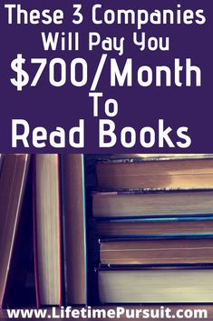 Get paid to read books! Like reading books? Well you better start liking it! Here are 3 companies that will pay you to read books! Ways To Earn Money, Earn Money From Home, Money Saving Tips, Way To Make Money, Books To Read, Reading Books, Making Extra Cash, Budgeting Finances, Home Based Business