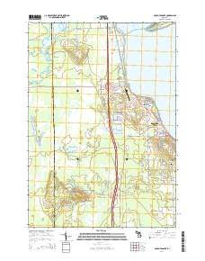 Houghton Lake Flats Flooding Topo Map in Roscommon County