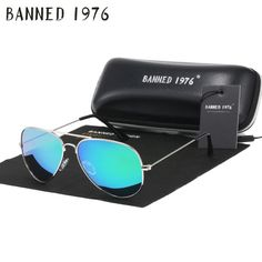 BANNED 1976 classic HD polarized metal frame fashion sunglasses classic  design women men feminin brand oculos vintage glasses 139eb5cf01
