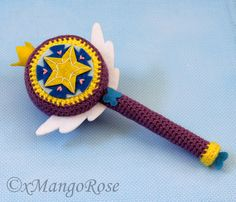 Star vs Forces of Evil - The Royal Magic Wand - CROCHET - Just finished this! =] It's from the Disney show Star vs Forces of Evil. This is the Royal Magic wand that Star Butterfly uses to defeat evil. Loom Knitting, Knitting Patterns, Crochet Patterns, Crochet Ideas, Crochet Stars, Cute Crochet, Star Y Marco, Star Magic, Unicorn Crafts