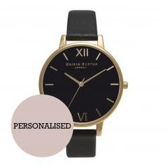 Black Dial and Gold Personalised