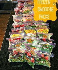 Smoothie Packs (All Things Katie Marie) Frozen Smoothie Packs Great idea for fast and convenient smoothies throughout the week! Cost efficient too!Frozen Smoothie Packs Great idea for fast and convenient smoothies throughout the week! Cost efficient too! How To Make Smoothies, Healthy Smoothies, Healthy Snacks, Healthy Eating, Healthy Recipes, Superfood Smoothies, Freezer Smoothies, Green Smoothies, Veggie Smoothie Recipes