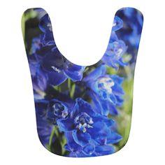Blue Delphinium Bib