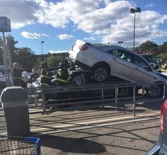Walmart Parking Lot Car Pile Up - Funny Pictures at Walmart