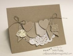 Stamp Set: Hearts a Flutter, Pretty Petites (FREE SAB ITEM!)  Paper: Crumb CakeInk: Craft White  Accessories: Doily, Linen Thread, 5/8″ Flower Trim, Pearl, Petite Curly Label (FREE SAB ITEM!)