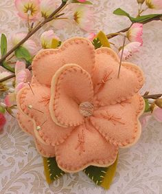 Cherry Blossom Pin Cushion. I want to make this a pillow!  It will be perfect with my Asian screen head board