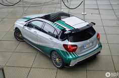 Mercedes-AMG A 45 Petronas 2015 World Champions Edition in Düsseldorf, Germany Spotted on by DutchStylez Mercedes Hatchback, Mercedes A45 Amg, Mercedes Petronas, Amg Petronas, Amg Car, Lamborghini Veneno, Car Wrap, Fast Cars, Custom Cars