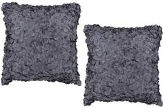 "Amazon.com: Luxury Pillow Set of 2 in Charcoal Gray with Poly Fill - 18"" X 18"": Home & Kitchen"