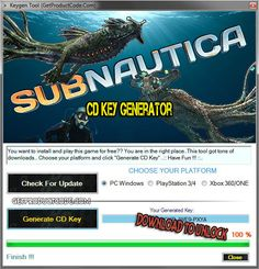 Subnautica CD Key Generator 2016 Free Games, Pc Games, Games To Play, Have Fun, Coding, Generators, Asd, Giveaways, Xbox