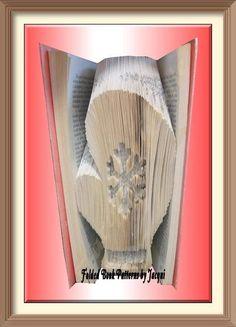 2184 book folding pattern mitten christmas by jhbookfoldpatterns on etsy - Ngel Muster Selber Machen
