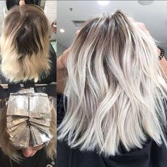 """Regular upkeep is a crucial step in blonde maintenance. Waiting too long to tame the roots can result in a more involved color correction and locks in distress. Luckily there are amazing colorists to help save the day with Olaplex!This blonde correction is by Brooke of Studio B Hair Colourists on Nicole Millar. Brooke used """"a whole load of Olaplex to help repair the lack of attention"""". She also used Pivotal face framing foils to keep the front extra bright. ✨"""