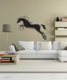 Horse Riding Wall Art Sticker Large Vinyl Transfer Graphic Decal Home Decor HO13