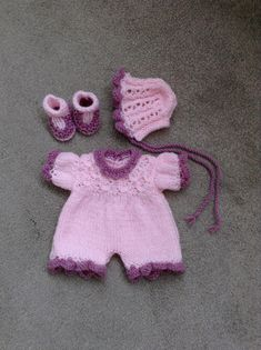 """Hand knitted dolls clothes to fit 11/ 12"""" doll/reborn baby/baby doll"""